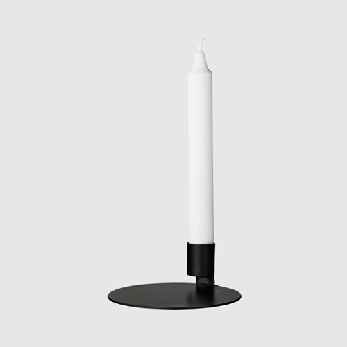 (스크레치 15% 할인) Bended candle 1 holder, Black