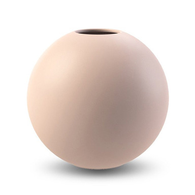 BALL VASE 20CM DUSTY PINK