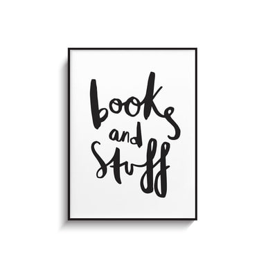 BOOK AND STUFF PRINT